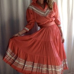 <VTG> Handmade Squaw Skirt Set